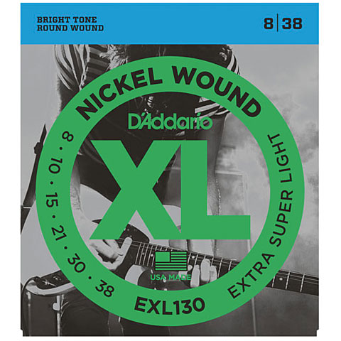 D'Addario EXL130 Nickel Wound .008-038