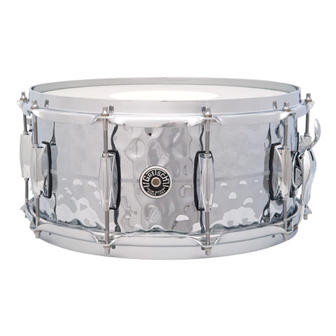 Gretsch USA Brooklyn 14  x 6,5  Hammered Chrome over Brass Snare