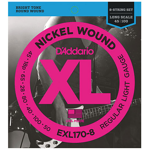 D'Addario EXL170-8 Nickel Wound .045-100