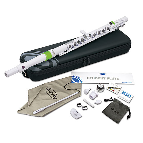 Nuvo Student Flute White/Green