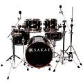 Sakae Pac-D Compact Drumset Solid Black « Schlagzeug