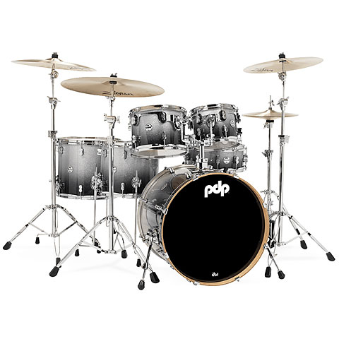 pdp Concept Maple CM6 Silver to Black Sparkle Fade