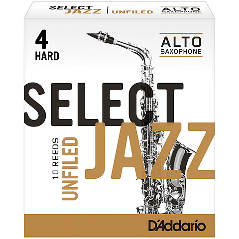 D'Addario Select Jazz Unfiled Alto Sax 4H