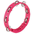 "Tambourin Nino 8"" Strawberry Pink ABS Compact Tambourine, Percussion, Drums/Percussion"