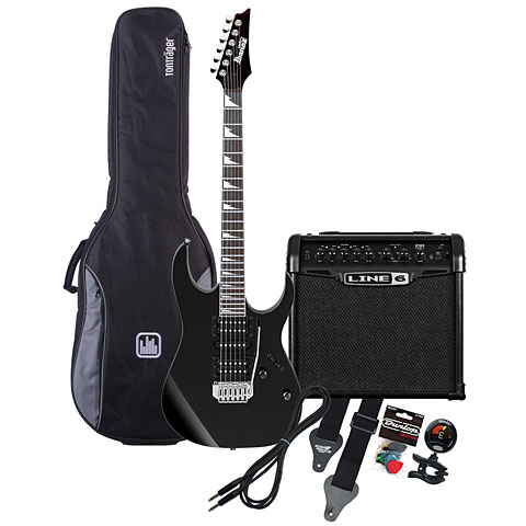 Ibanez GRG170DX-BKN / Line 6 Spider Classic 15 MP-Bundle
