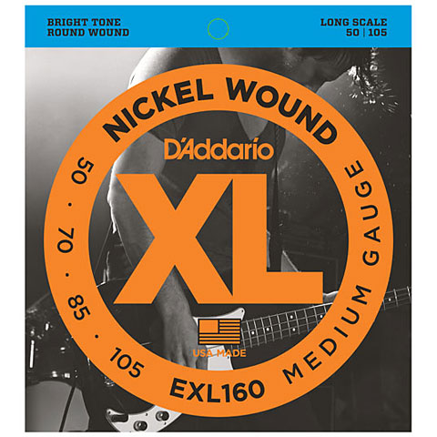 D'Addario EXL160 Nickel Wound .050-105
