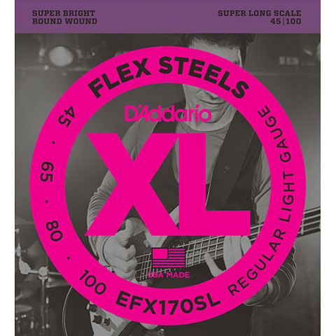 D'Addario EFX170SL Flex Steels .045-100