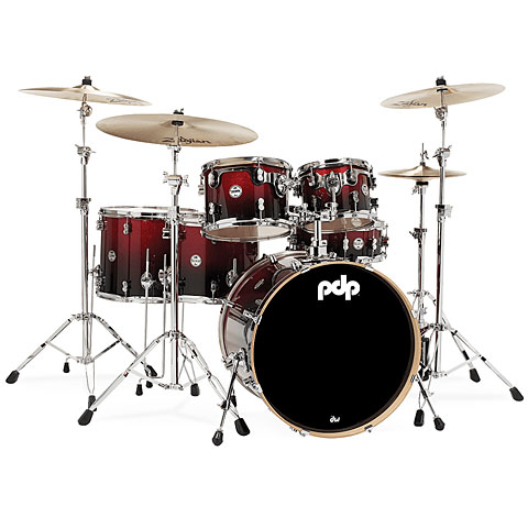 pdp Concept Maple CM6 Red to Black Sparkle Fade