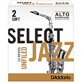 D'Addario Select Jazz Unfiled Alto Sax 2S « Blätter