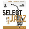 D'Addario Select Jazz Unfiled Alto Sax 4S « Blätter