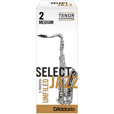 D'Addario Select Jazz Unfiled Tenor Sax 2M
