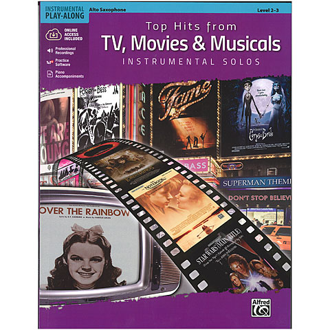 Alfred KDM Top hits from TV, Movies and Musicals for alto sax