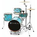 Sakae Pac-D Sonic Blue Compact Drumset « Schlagzeug