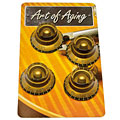 Crazyparts Art of Aging Tophats Aged Gold Premium 4x « Potiknopf
