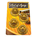 Crazyparts Art of Aging Tophats, Gold, Aged, Standard 4x « Potiknopf